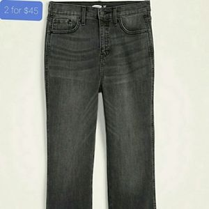BNWT high waisted flare ankle jeans